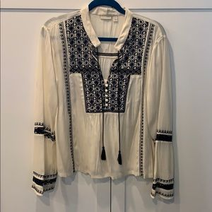 Hinge Embroidered Blouse